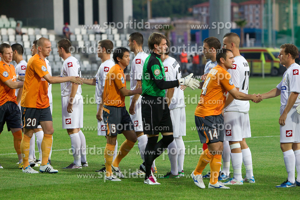 Football match between FC Luka Koper and Shakhter Karagandy in 1st Round of Qualifications for Europe League, on June 30, 2011, in Stadium Bonifika, Koper, Slovenia. (Photo by Vid Ponikvar / Sportida)