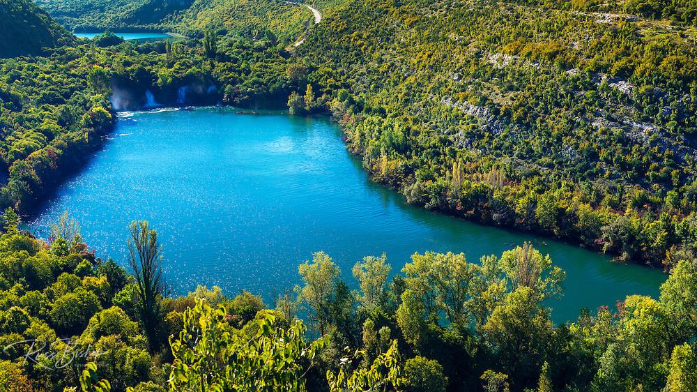 Waterfalls on the Kirka River, Krka National Park, Dalmatia, Croatia