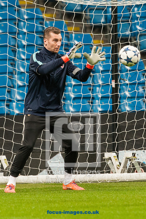 Danijel Subasic of AS Monaco during training at the Etihad Stadium, Manchester<br /> Picture by Matt Wilkinson/Focus Images Ltd 07814 960751<br /> 20/02/2017