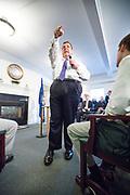 Bow, New Hampshire, USA, 20160202: Den republikanske presidentkandidaten Chris Christie besøker eldresenteret White Rock. Foto: Ørjan F. Ellingvåg