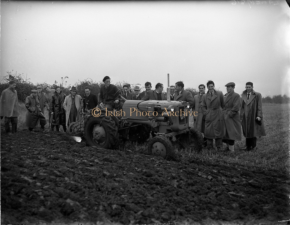 03/11/1955.11/03/1955.03 November 1955.Tractor Demonstration Allis-Chalmers D-270 at Collinstown, Cloghran Co. Dublin.