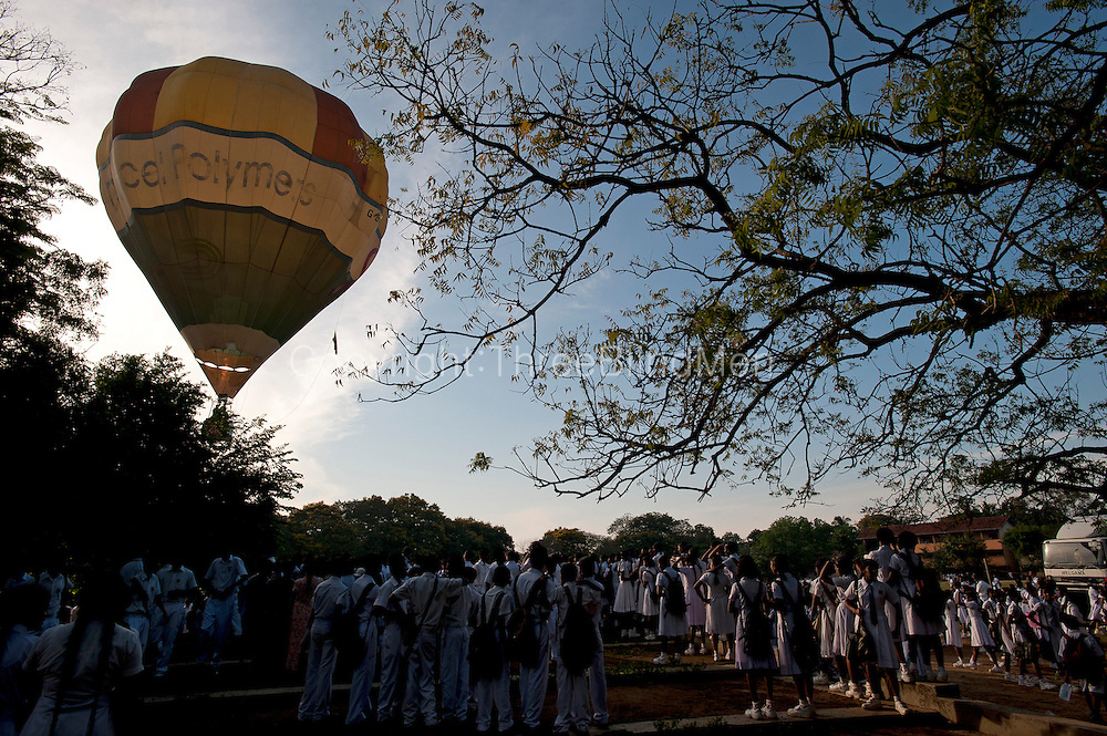 Hot Air Balloon taking off from Debarawewa school.