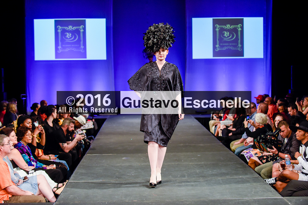 NEW ORLEANS FASHION WEEK 2016: NOFW6, New Orleans Fashion Week with Designer DeAndre Beverly showcasing her design at the New Orleans Board of Trade on Friday March 18, 2016. &copy;2016, Gustavo Escanelle, All Rights Reserved. &copy;2016, MOI MAGAZINE, All Rights Reserved.<br /> <br /> #nofw6 #DeAndre Beverly