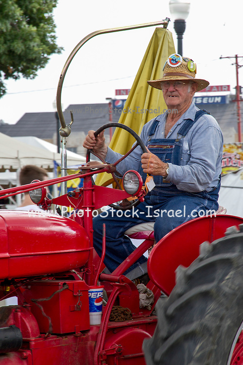 Vintage Tractor at the Indiana State Fair, Indianapolis, Indiana, USA
