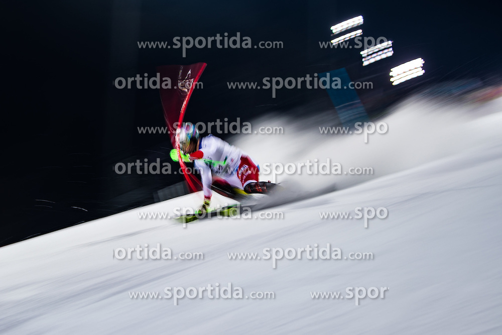 24.01.2017, Planai, Schladming, AUT, FIS Weltcup Ski Alpin, Schladming, Slalom, Herren, 1. Lauf, im Bild Luca Aerni (SUI) // Luca Aerni of Switzerland in action during his 1st run of men's Slalom of FIS ski alpine world cup at the Planai in Schladming, Austria on 2017/01/24. EXPA Pictures © 2017, PhotoCredit: EXPA/ Johann Groder