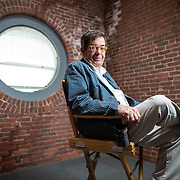 "10/04/2012  BOSTON, MA   Producer Chris Morgan (cq) poses for a portrait on the set of ""The Makeover,"" (cq) a Hallmark (cq) movie.   (Aram Boghosian for The Boston Globe)"