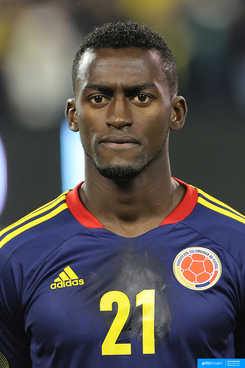 Jackson Martinez, Colombia, during the Brazil V Colombia International friendly football match at MetLife Stadium, New Jersey. USA. 14th November 2012. Photo Tim Clayton