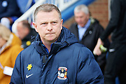 Coventry City manager Mark Robins before the EFL Sky Bet League 1 match between Peterborough United and Coventry City at London Road, Peterborough, England on 16 March 2019.