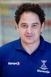 Portrait of Sokol Kadrija, physiotherapist of Slovenian Handball Men National Team, on June 4, 2009, in Arena Kodeljevo, Ljubljana, Slovenia. (Photo by Vid Ponikvar / Sportida)