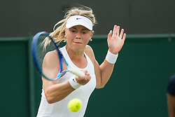 LONDON, ENGLAND - Saturday, July 2, 2016:  Carina Witthoeft (GER) during the Ladies' Single 3rd Round match on day six of the Wimbledon Lawn Tennis Championships at the All England Lawn Tennis and Croquet Club. (Pic by Kirsten Holst/Propaganda)