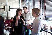HOLLY TURNER; CHRIS CASTRO, Brunch to celebrate the launch of Art HK 11. Miss Yip Chinese Cafe. Meridian ave,  Miami Beach. 3 December 2010. -DO NOT ARCHIVE-© Copyright Photograph by Dafydd Jones. 248 Clapham Rd. London SW9 0PZ. Tel 0207 820 0771. www.dafjones.com.