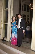 Sarah Miyazawa Lafleur and Alexis de la Mure. Crillon Debutantes Ball 2002. Paris. 7 December 2002. © Copyright Photograph by Dafydd Jones 66 Stockwell Park Rd. London SW9 0DA Tel 020 7733 0108 www.dafjones.com