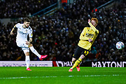 Leeds United midfielder Mateusz Klich (43) takes a shot during the EFL Sky Bet Championship match between Leeds United and Millwall at Elland Road, Leeds, England on 28 January 2020.