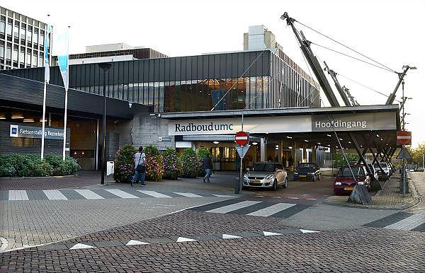 Nederland, Nijmegen, 14-9-2013Ingang gebouw umc radboud, umcn, academisch, universitair ziekenhuis. Foto: Flip Franssen