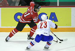 Ryan Getzlaf of Canada vs Mats Trygg of Norway at play-off round quarterfinals ice-hockey game Norway vs Canada at IIHF WC 2008 in Halifax,  on May 14, 2008 in Metro Center, Halifax, Nova Scotia,Canada. (Photo by Vid Ponikvar / Sportal Images)