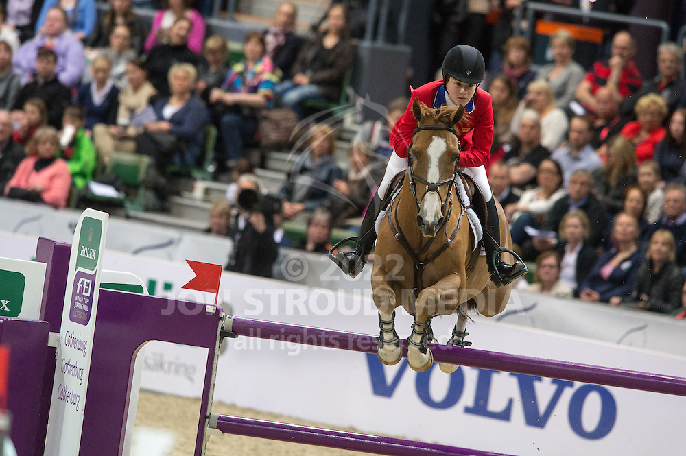 Katherine Dinan (USA) & Nougat du Vallet - Rolex World Cup Jumping Final R3/1 - Gothenburg Horse Show 2013 - Scandinavium, Gothenburg, Sweden - 28 April 2013