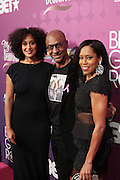 October 13, 2012- Bronx, NY: (L-R) Actress Tracy Ellis Ross, Stephen Hill, BET and Actress Regina King at the Black Girls Rock! Awards Red Carpet presented by BET Networks and sponsored by Chevy held at the Paradise Theater on October 13, 2012 in the Bronx, New York. BLACK GIRLS ROCK! Inc. is 501(c)3 non-profit youth empowerment and mentoring organization founded by DJ Beverly Bond, established to promote the arts for young women of color, as well as to encourage dialogue and analysis of the ways women of color are portrayed in the media. (Terrence Jennings)