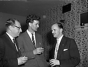15/05/1959<br /> 05/15/1959<br /> 15 May 1959<br /> Silver City Airways inaugural flight from Blackpool to Dublin. Centre is Mr. Brian Bradley (Assistant to the General Manager, Silver City AIrlines); right is Mr. M.K. O'Doherty (Travel Facilities Manager An Bord Failte, Dublin).