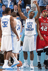 28 December 2006: North Carolina Tarheel forward (40) Mike Copeland during a 87-48 Rutgers Scarlet Knights loss to the North Carolina Tarheels, in the Dean Smith Center in Chapel Hill, NC.<br />