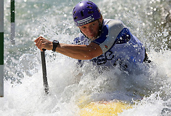 Jost Zakrajsek (SLO) of Men's C1 Canoe Single at Heats - 1st Run of ICF Kayak/Canoe Slalom Racing World Cup Tacen 2008, on June 28, 2008, Ljubljana, Slovenia. (Photo by Vid Ponikvar / Sportal Images)../ Sportida)