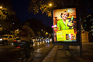 "A Portuguese company advertises its liquor brand using digital composed images of German Chancellor Angela Merkel and French President Nicolas Sarcozy holding a Licor Beirão bottle, it can be read in the muppie among other things, ""Dear Angela. Portugal is giving its best. Happy Holidays."" , in Lisbon, Portugal. 27/12/2011 IN SALES IN PORTUGAL"