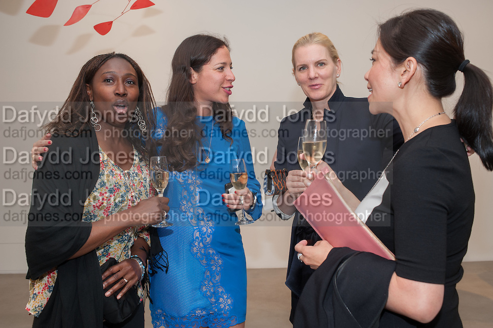 DONNA CROSS; PILAR ORDOVAS; SUSAN ALMRUD;  PHUONG BANH, Pilar Ordovas hosts a Summer Party in celebration of Calder in India, Ordovas, 25 Savile Row, London 20 June 2012