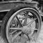 Rusting Wheel - Pottsville - Merlin, Oregon - Lensbaby - Infrared Black & White