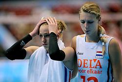 20-08-2009 VOLLEYBAL: WGP FINALS DUITSLAND - NEDERLAND: TOKYO<br /> Nederland wint ook de tweede wedstrijd. Ditmaal werd Duitelsnad met 3-2 verslagen / Manon Flier en Debby Stam<br /> ©2009-WWW.FOTOHOOGENDOORN.NL