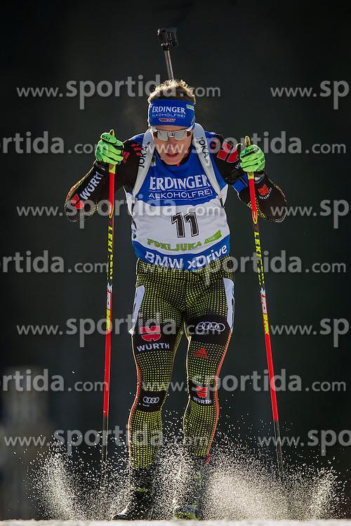 Andreas Birnbacher (GER) during Men 10 km Sprint at day 1 of IBU Biathlon World Cup 2015/16 Pokljuka, on December 17, 2015 in Rudno polje, Pokljuka, Slovenia. Photo by Urban Urbanc / Sportida