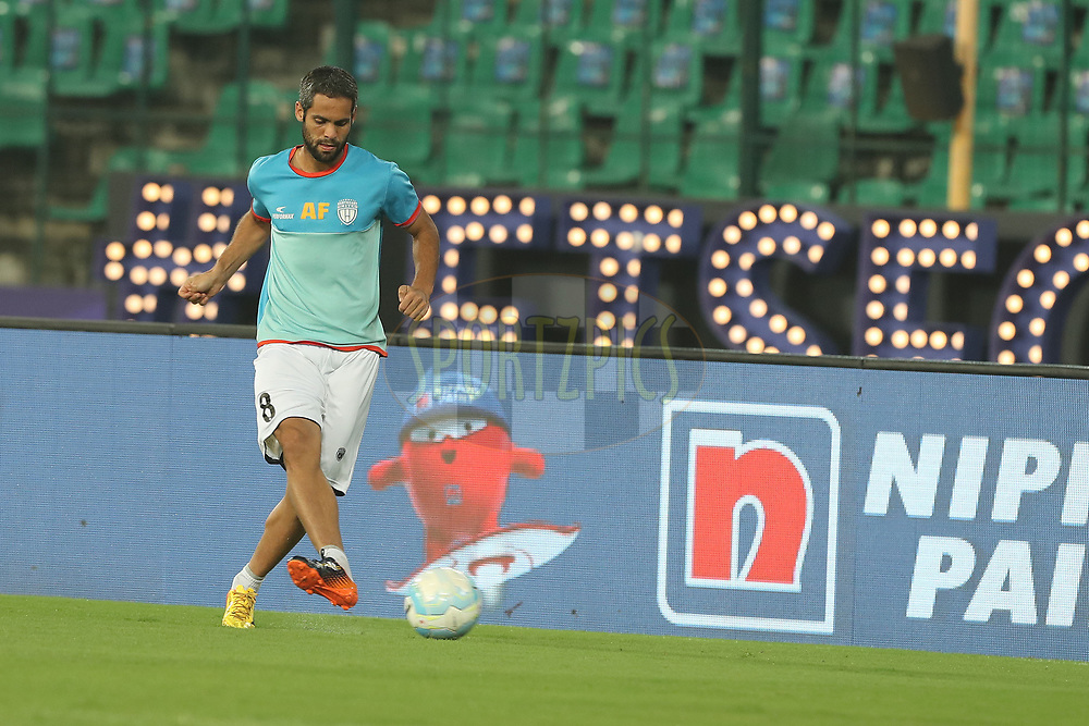 Adilson Goiano of Northeast United FC during match 6 of the Hero Indian Super League between Chennaiyin FC and NorthEast United FC held at the Jawaharlal Nehru Stadium, Chennai, India on the 23rd November 2017<br /> <br /> Photo by: Ron Gaunt / ISL / SPORTZPICS