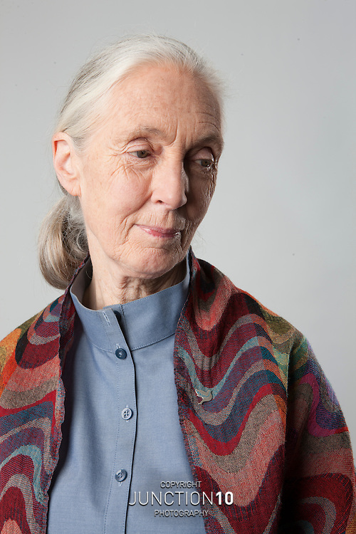 Dr Jane Goodall Portrait Session at the NEC LG Arena - Birmingham, United Kingdom .Picture Date: 23 June, 2009
