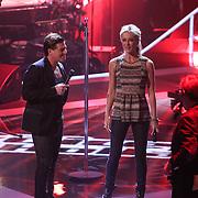 NLD/Hilversum/20121109 - The Voice of Holland 1e liveuitzending, Wendy van Dijk en Martijn Krabbe