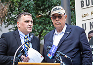 Retired Lt. Gen. Russel Honoré , founder of the GreenArmy with Jonathan Henderson, founder of Vanishing Earth, an environmental watchdog organization at a rally held on the 8 year anniversary of the BP OIl Spill in front of the federal court house in New Orleans calling for justice for the BP OIl Spill clean-up workers who still havent had their day in court.