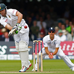 16/08/2012 London, England. South Africa's AB de Villiers batting during the third Investec cricket international test match between England and South Africa, played at the Lords Cricket Ground: Mandatory credit: Mitchell Gunn