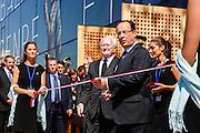 President Francois Hollande and Michel Vauzelle during the opening  ceremony of the Mucem (Musée des civilisations de l'Europe et de la Méditerranée) in Marseille, France on June 4, 2013