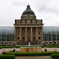 Europe, Germany, Munich. Bavarian State Chancellery or<br /> Bayerische Staatskanzlei in Munich.