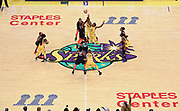 General overall view of the opening tipoff betweenLos Angeles Sparks forward Nneka Ogwumike (30) and Connecticut Sun forward Jonquel Jones (35) during a WNBA basketball game, Friday, May 31, 2019, in Los Angeles.The Sparks defeated the Sun 77-70.  (Dylan Stewart/Image of Sport)