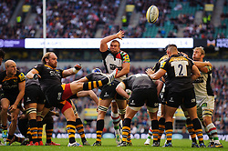 Wasps Fly-Half (#10) Andy Goode  clears during the second half of the match - Photo mandatory by-line: Rogan Thomson/JMP - Tel: Mobile: 07966 386802 07/09/2013 - SPORT - RUGBY UNION - Twickenham Stadium - London Wasps v Harlequins - Aviva Premiership - London Double Header.