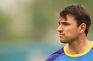 Justin Kemp of the Chennai Super Kings during the Superkings training session held at St Georges Park in Port Elizabeth on the 20 September 2010..Photo by: Shaun Roy/SPORTZPICS/CLT20
