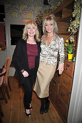 Left to right, LULU and JO WOOD at a dinner in aid of the Soil Association held at Bumpkin, 102 Old Brompton Road, London SW7 on 11th March 2009.