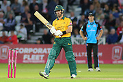 Dan Christian of Nottinghamshire Outlaws batting during the Vitality T20 Blast North Group match between Nottinghamshire County Cricket Club and Worcestershire County Cricket Club at Trent Bridge, West Bridgford, United Kingdon on 18 July 2019.