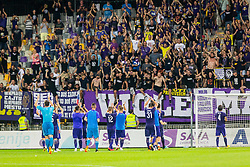 Players of NK Maribor during 2nd Leg football match between NK Maribor and FC Chikhura in 2nd Qualifying Round of UEFA Europa League 2018/19, on August 2, 2018 in Ljudski vrt, Maribor, Slovenia. Photo by Ziga Zupan / Sportida