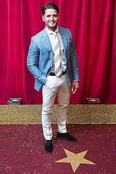 © Licensed to London News Pictures . 16/05/2015 .  The Palace Hotel , Manchester , UK . FABRIZIO SANTINO . The red carpet at the 2015 British Soap Awards , The Palace Hotel , Oxford Road , Manchester . Photo credit : Joel Goodman/LNP