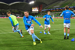 October 6, 2017 - Melbourne, Victoria, Australia - ROSS MCCORMACK (44) of Melbourne City warming up prior to the round one match of the A-League between Melbourne City and Brisbane Roar at AAMI Park, Melbourne, Australia. Melbourne won 2-0 (Credit Image: © Sydney Low via ZUMA Wire)