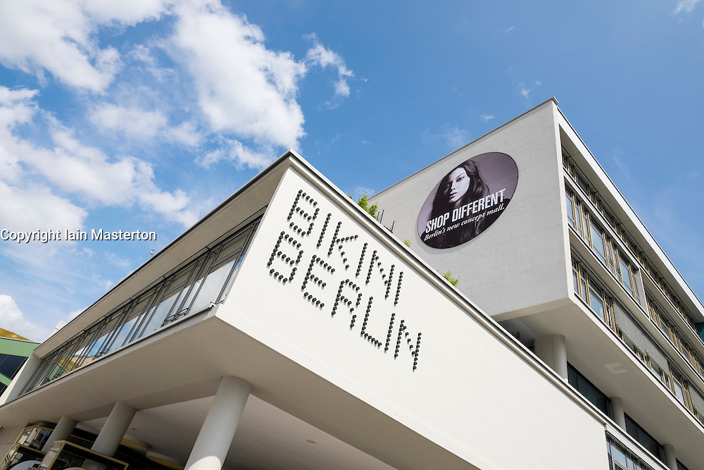 Exterior view of new Bikini Berlin shopping mall in Berlin Germany