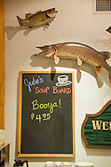 Restaurant scene in the town of Ely Minnesota gateway to the Boundary Waters Canoe Area.