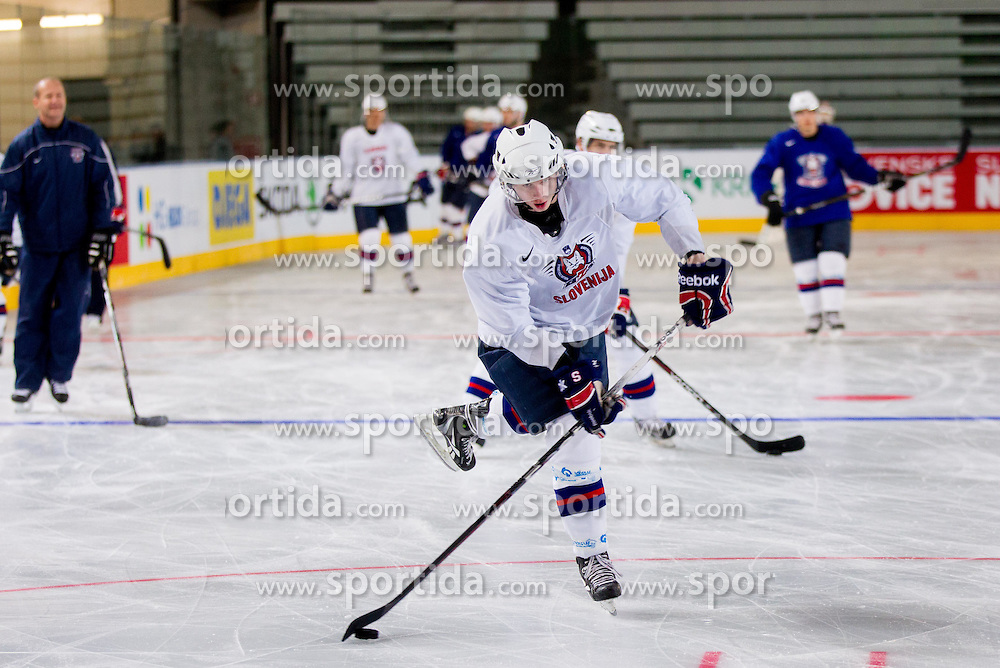 Ziga Jeglic during practice session of Slovenian National Ice Hockey team first time in Arena Stozice before 2012 IIHF World Championship DIV I Group A in Slovenia, on April 13, 2012, in Arena Stozice, Ljubljana, Slovenia. (Photo by Vid Ponikvar / Sportida.com)