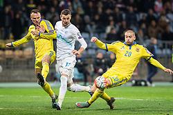 Milivoje Novakovic (SLO) vs Yaroslav Rakitskiy (UKR) during the UEFA EURO 2016 Play-off for Final Tournament, Second leg between Slovenia and Ukraine, on November 17, 2015 in Stadium Ljudski vrt, Maribor, Slovenia. Photo by Ziga Zupan / Sportida