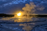 North America, American, USA, Rocky Mountains, West, Yellowstone  National Park, UNESCO, World Heritage, Great Fountain Geyser