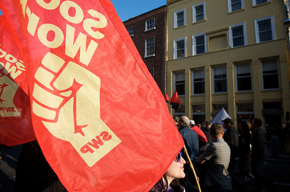 Right to Work Campaign protest  march in Dublin.